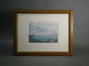 小暮真望の版画「漁港」