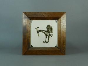 船木研児 陶板 鳥
