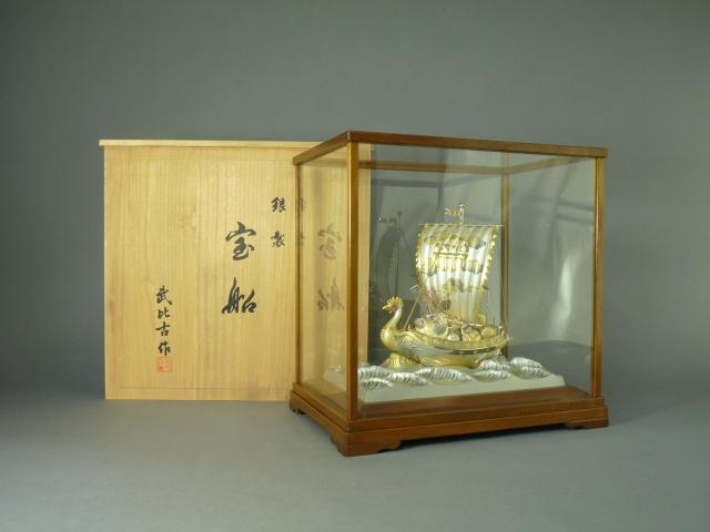 埼玉県川口市で銀製宝船や七宝額をお譲り頂きました