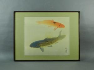 武藤弧舟 鯉の図