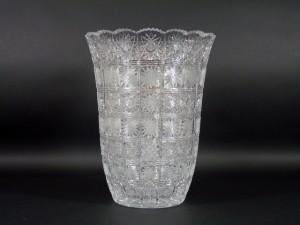 ボヘミア(チェコ)ガラス花瓶