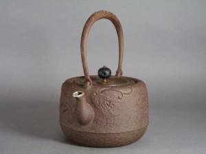 銀象嵌 鉄瓶