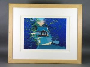 鈴木英人 神社 版画