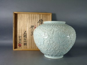 安東五 白磁大花瓶