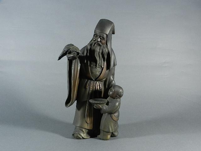 東京都 練馬区で唐子寿老人の銅器や恵比寿大黒の置物などをお譲り頂きました