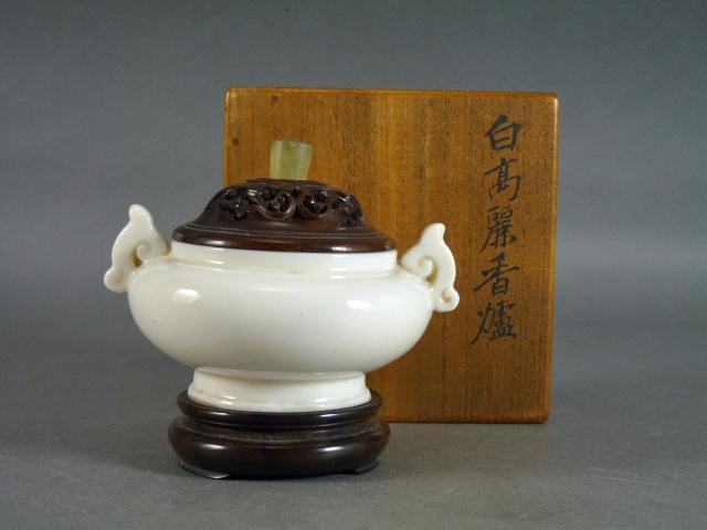 東京都 文京区で徳化窯(白高麗)の香炉や石製の水滴などを買取らせて頂きました