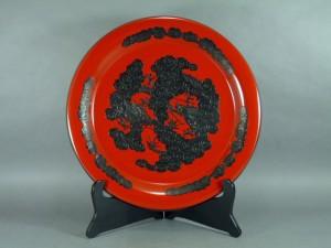 琉球漆器 丸皿
