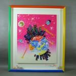 東京都 葛飾区で「おかもとみわこ」のアクリル画をお譲り頂きました