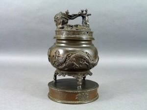 古銅 三足香炉