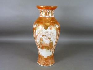 九谷 赤絵金襴 大花瓶
