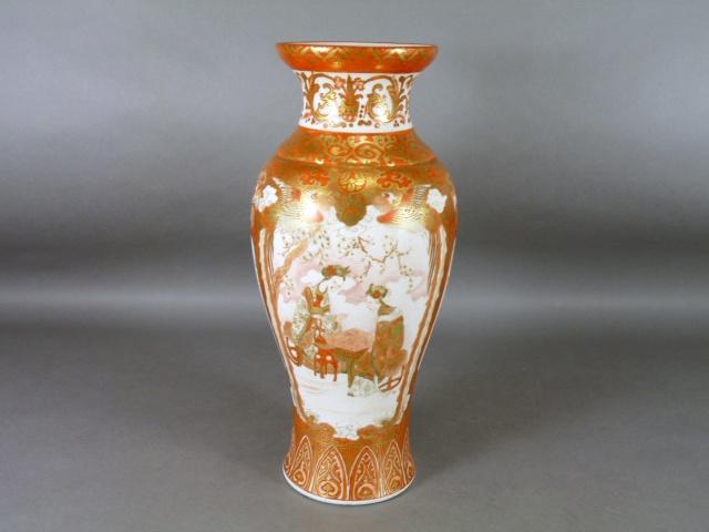 埼玉県 入間市で九谷焼の金襴赤絵の大花瓶や楽山焼の花瓶などを買取らせて頂きました