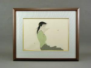 中島潔 木版 美人画