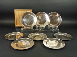 銀製 菓子盆(皿)8枚