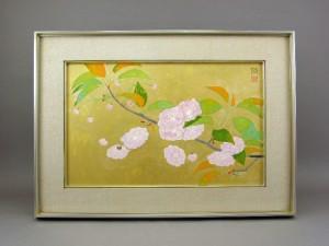 尾山幟 日本画 桜