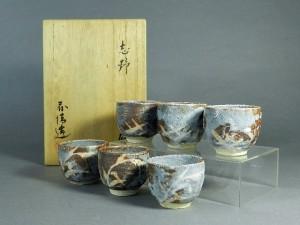 鼠志野 煎茶碗