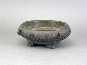 大日本亀楽斎翠雲鋳 古銅 水盤