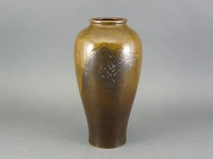 金谷五郎三郎 金銀象嵌 花瓶