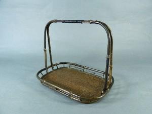 竹製手付 煎茶盆