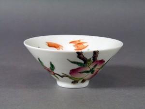 中国 桃蝙蝠 茶碗