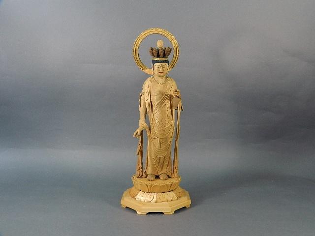 東京都 昭島市で木彫の仏像をお譲り頂きました