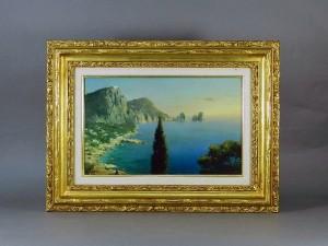 カリブ海風景 油絵