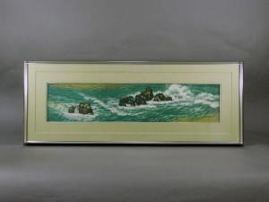 東山魁夷 海辺 工芸画
