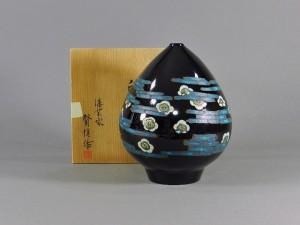 佐々木賢悦 漆器 花器