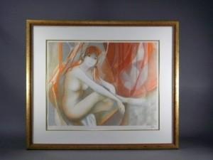 バラディエ 裸婦 リトグラフ