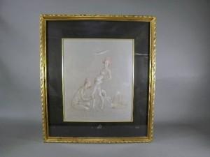 レオノール・フィニ 銅板 人物