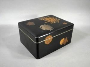 黒塗蒔絵文箱
