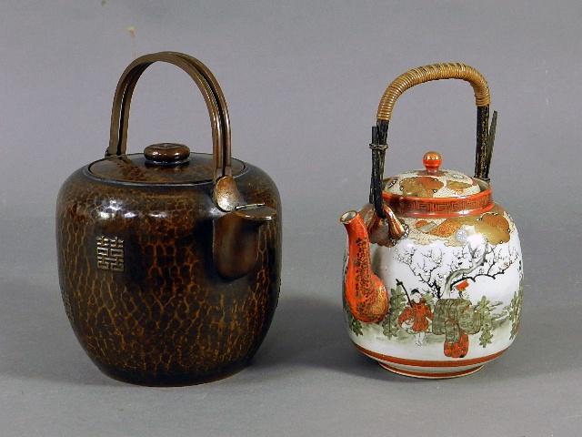 埼玉県 志木市で銅製水注(薬缶)や九谷焼の(急須)水注、古伊万里の皿や鉢を買い受けさせて頂きました