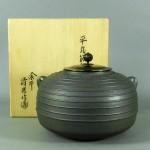 埼玉県 行田市で「佐藤清光」の釜や京焼の皆具などの茶道具をまとめて買い取らせて頂きました