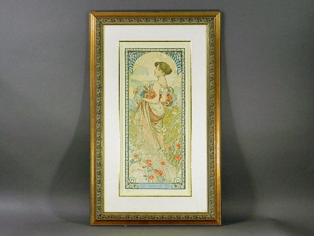 東京都 青梅市で「アルフォンス・ミュシャ」の作品を買い取らせて頂きました