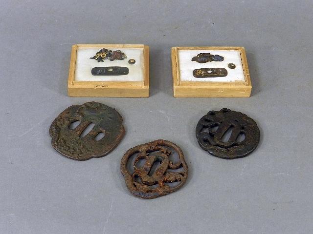 千葉県 松戸市で鍔・刀装具や髪飾り(彫金・珊瑚(サンゴ)・鼈甲)などを買受させて頂きました