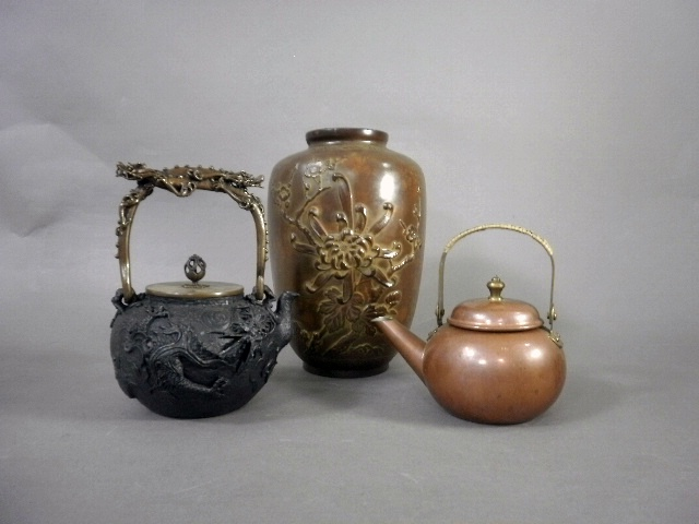 埼玉県 行田市で鉄瓶や銅器などを買い受させて頂きました