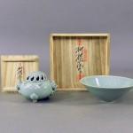 東京都 世田谷区で「柳海剛」の高麗青磁(香炉・茶碗)を買い取らせて頂きました