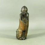埼玉県 三郷市で木彫(寿老人像)や木製の飾台を買受けさせて頂きました