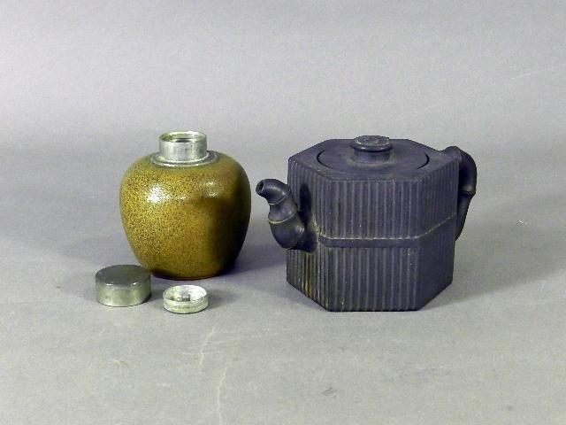 東京都 立川市で朱泥の急須や茶入(茶壺)などの煎茶道具をお譲り頂きました
