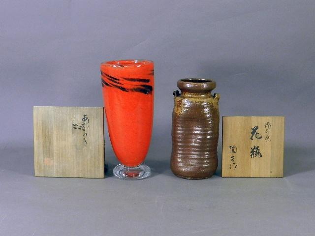 東京都 日野市の遺品買取で「岩田藤七」のガラス器や「小西陶古(備前焼)」の作品をお譲り頂きました