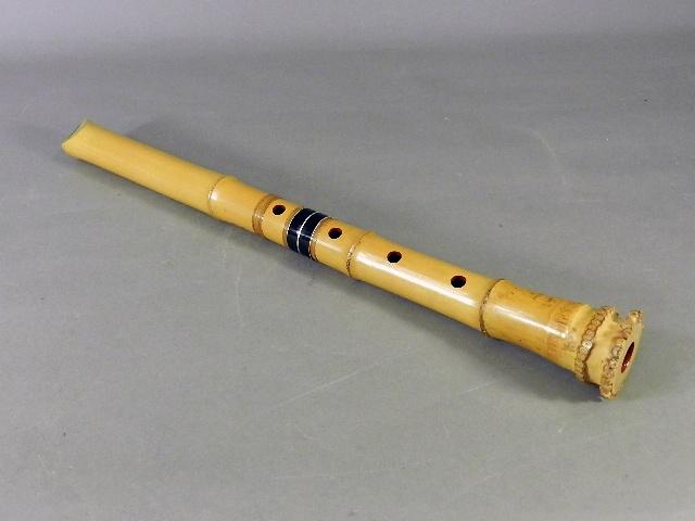 東京都 東大和市で遺品買取のご依頼により竹製の尺八(和楽器)をお譲りいただきました