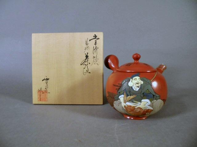 埼玉県 八潮市で常滑焼の急須や鎌倉彫の茶托などの茶器(茶道具)をお譲り頂きました
