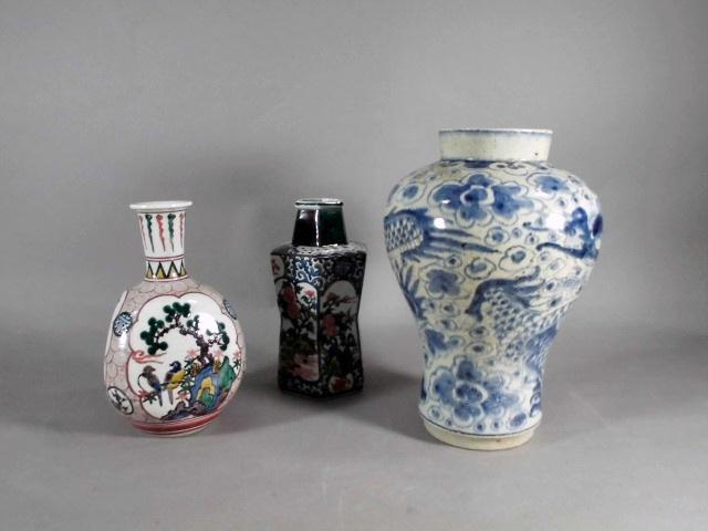 埼玉県 北本市で九谷焼や李朝の花瓶(復刻)を買い受けさせて頂きました