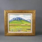 埼玉県 富士見市で遺品買取(遺品整理)のご依頼で「吉田清志」の絵画(油絵)や盆石を買受させて頂きました