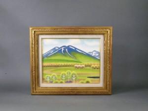 吉田清志 油絵 山