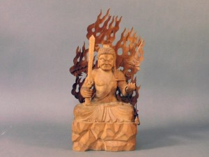木彫 不動明王像