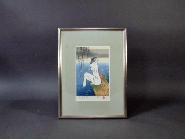 東京都 豊島区で「小島功」の木版画を買い取らさせて頂きました