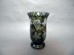 ボヘミア ガラス花瓶