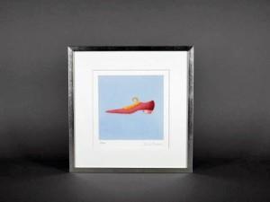 海外作家 リトグラフ 赤い靴