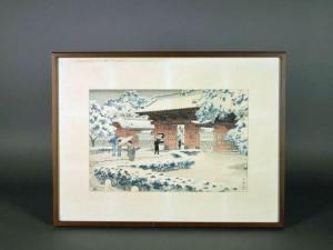 神奈川県 鎌倉市で「笠松紫浪」の木版画(版画)や記念メダルを買受けさせて頂きました