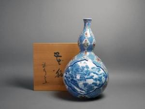 有田焼 瓢箪化型 花瓶